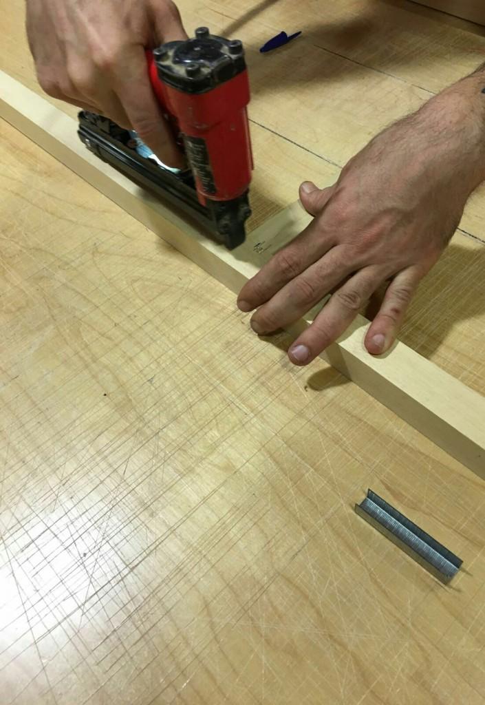 Montaje bastidor de madera